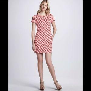 DVF l Red Chain Silk Beth Dress sz 10